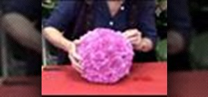 Make a ball of flowers with an oasis