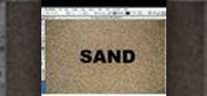 Create text with a sand-like texture with Photoshop