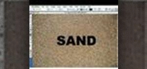 Createtextwith a sand-like texture with Photoshop