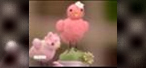 Make needle-felted chicks