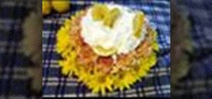 Make a whipped cream carnation pie arrangement