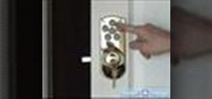 Install a keyless entry deadbolt