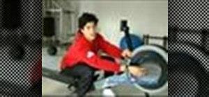 Do rowing machine exercises