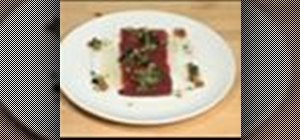 Make tuna carpaccio