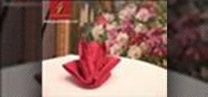 Fold a napkin into a lily flower (Pliage fleur de lys)