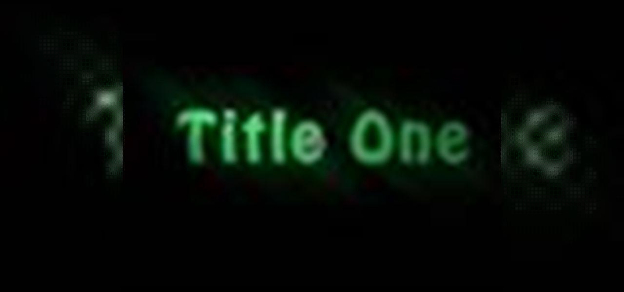 How to create a title in premiere pro cs3 adobe premiere how to create a title in premiere pro cs3 adobe premiere wonderhowto ccuart Gallery