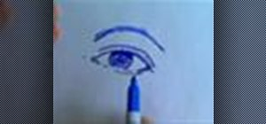 Draw an eye from the front