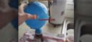 Make a self inflating balloon
