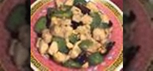 Cook Chinese kung pao chicken with Kai