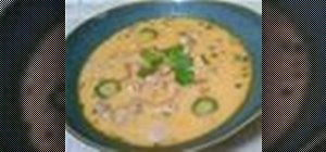 Make spicy chicken thai soup