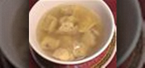 Cook a Chinese wonton soup with Kai