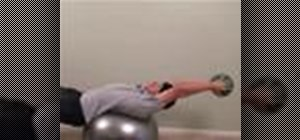 Do a pullover back exercise with a medicine ball