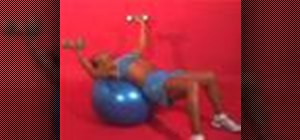 Exercise with the dumbbell fly on stability ball