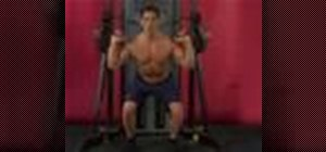 Exercise with overhand squat & cable shoulder press