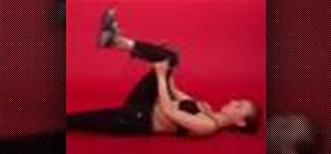Exercise with the glutes self stretch with yoga strap