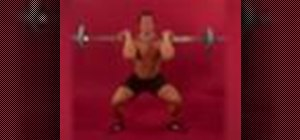 Exercise with the barbell clean and jerk
