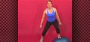 Exercise with the dumbbell side lunge on bosu