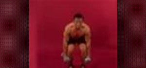 Exercise with the dumbbell clean and jerk