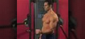 Exercise with the cable shoulder external rotation