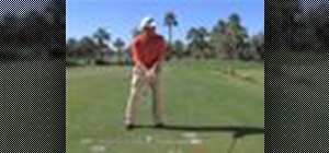 Correct golf posture when striking