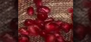 Remove pomegranate seed with a spoon