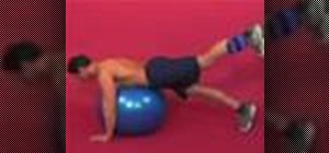 Exercise with 1 leg hip extension on stability ball