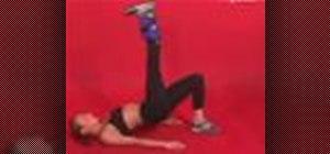Exercise with the 1 leg bridge and straight leg raise