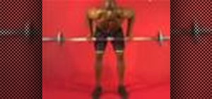 Exercise with the barbell row with underhand grip