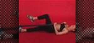 Exercise with the it band self stretch with yoga strap