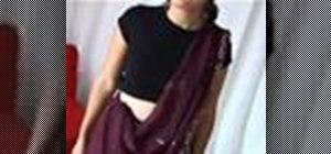 Tie a sari properly