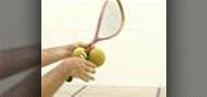 Grip a racquet properly for playing squash
