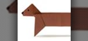 Origami a dachshund Japanese style