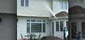 Pressure wash a second story siding