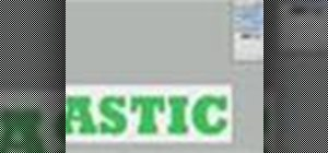 Photoshop plastic text