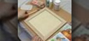 Create a 3-D picture within a  wooden frame