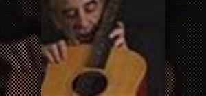 Set up an acoustic guitar