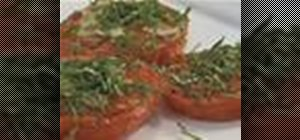 Bake tomatoes Provencal in a toaster oven