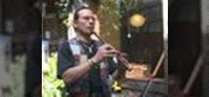 Carve a flute