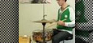 "Play ""Smells Like Teen Spirit"" by Nirvana on drums"