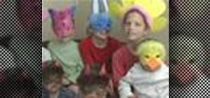 Make foam masks for kid's crafts