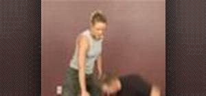 Practice women's self defense against frontal attacks