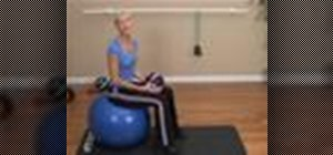 Exercise the core with a medicine ball