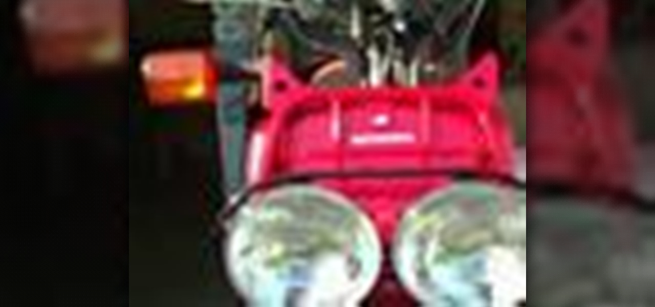How to install aftermarket turn signals on a honda motorcycle how to install relocate new turn signals on a honda ruckus sciox Image collections