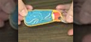 Embroider a keychain as an easy gift