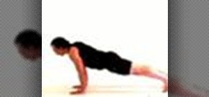 Move from downward dog to plank in a yoga sequence