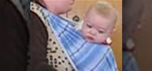 Tie a double cross carry for a baby with a long wrap