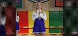 Clap with open palms and clasped hands in cheerleading