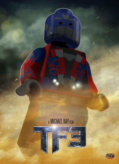 Summer Movie Posters Done with Lego