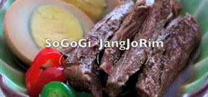 Make SoGoGi JangJoRim (boiled beef and quail eggs)