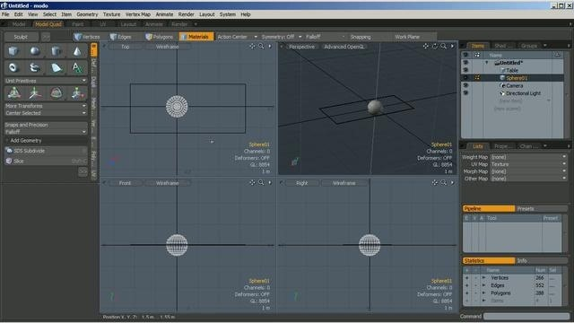Create plastic and chrome shaders within modo